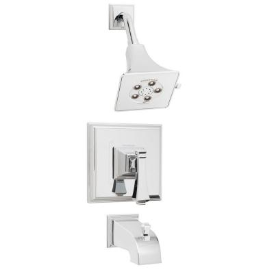 Rainier Single-Handle 3-Spray Tub and Shower Faucet in Polished Chrome (Valve Included)