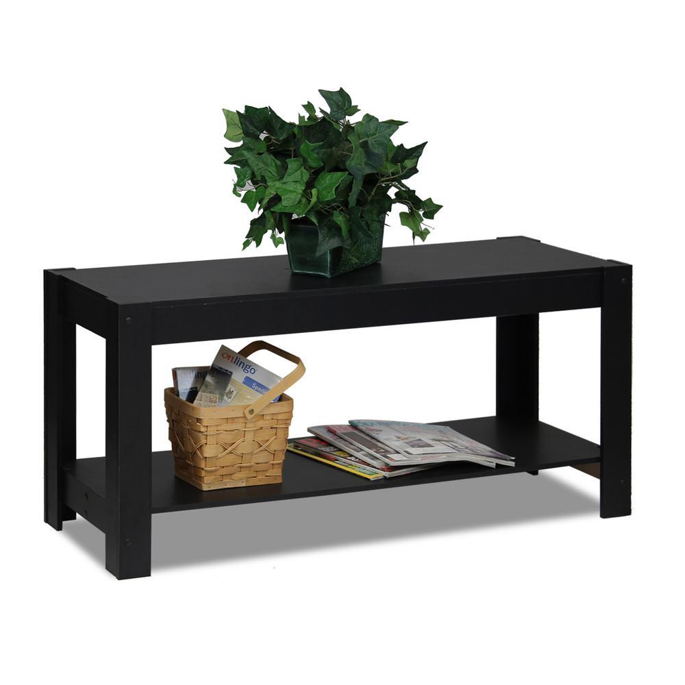 Furinno Parsons Multipurpose Black Coffee Table 12125bk