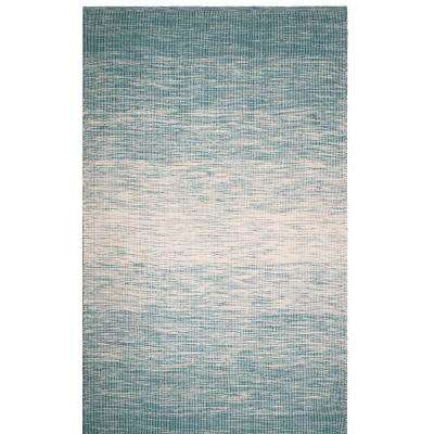 Stockholm Indoor/Outdoor Teal 5 ft. x 8 ft. PET Area Rug