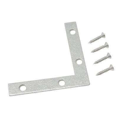 2 in. Galvanized Flat Corner Brace (2-Pack)