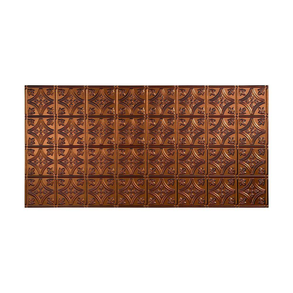 Fasade traditional 1 2 ft x 4 ft glue up ceiling tile in glue up ceiling tile in bermuda bronze g50 17 the home depot dailygadgetfo Choice Image