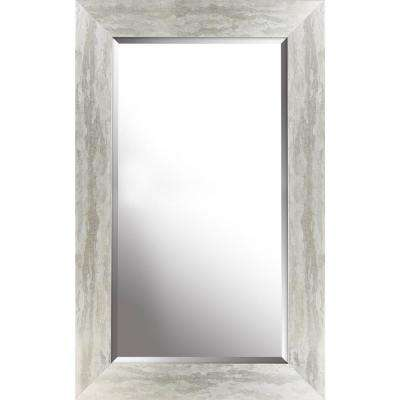 26.50 in. x  42.50 in. x  0.75 in. Antique Silver Beveled Decorative Wall Mirror