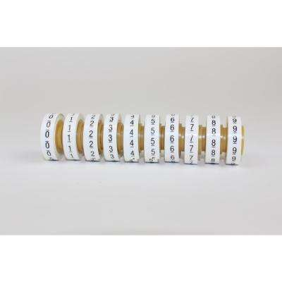 0.215 in. x 4 ft. Wire Marker Number Tape White Refill Roll (10-pack)
