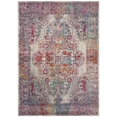 Valencia Ivory/Red 8 ft. x 10 ft. Area Rug