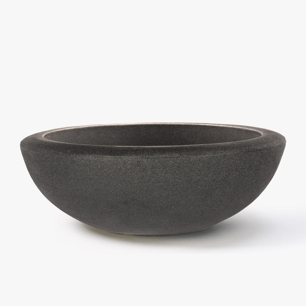 26 in. Antique Bronze Resin Santorini Bowl