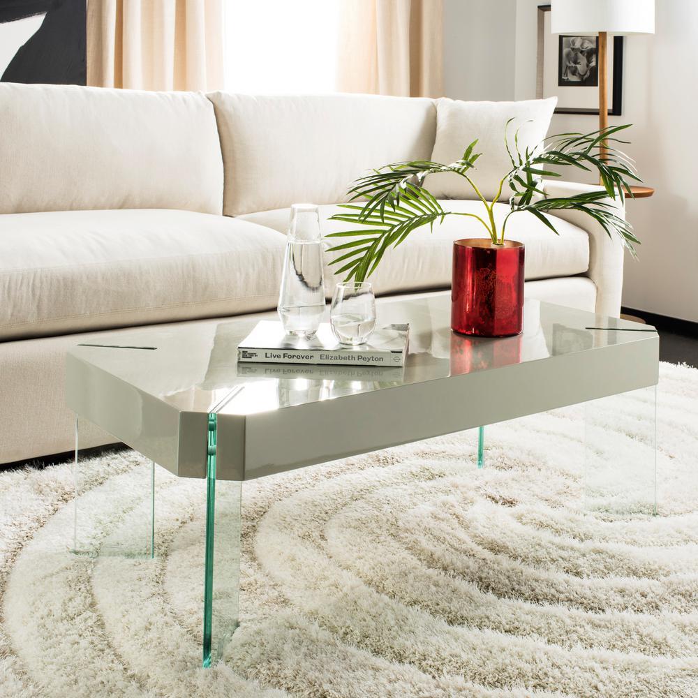 Safavieh Gensho Gray Coffee Table Fox6536a The Home Depot