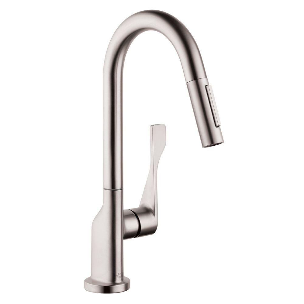 Hansgrohe axor citterio prep single handle pull down - Hansgrohe shower handle ...
