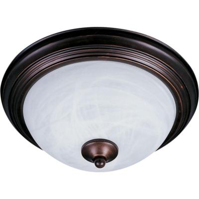 Outdoor Essentials 1-Light Oil Rubbed Bronze Outdoor Flushmount