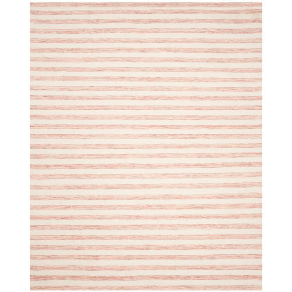 Dhurries Rust/Ivory 8 ft. x 10 ft. Area Rug