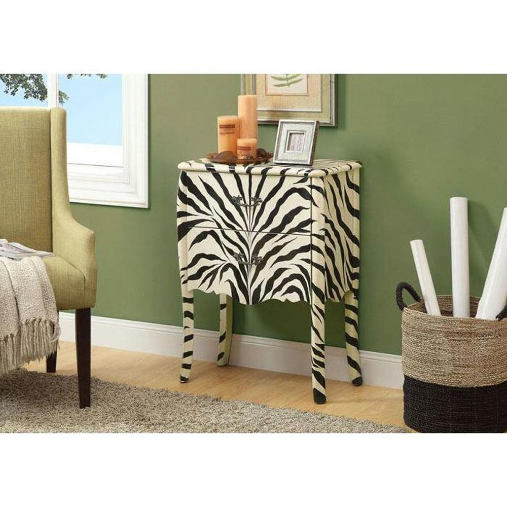 Monarch Specialties Zebra Chest
