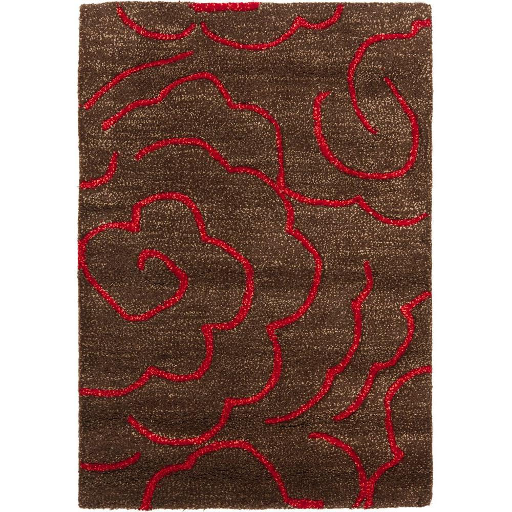 Soho Chocolate Red 2 Ft X 3 Area Rug