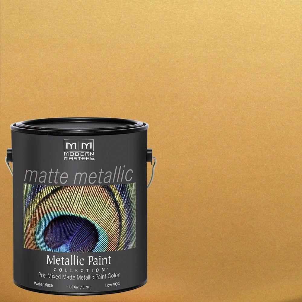 1 gal. Gold Rush Water-Based Matte Metallic Interior Paint