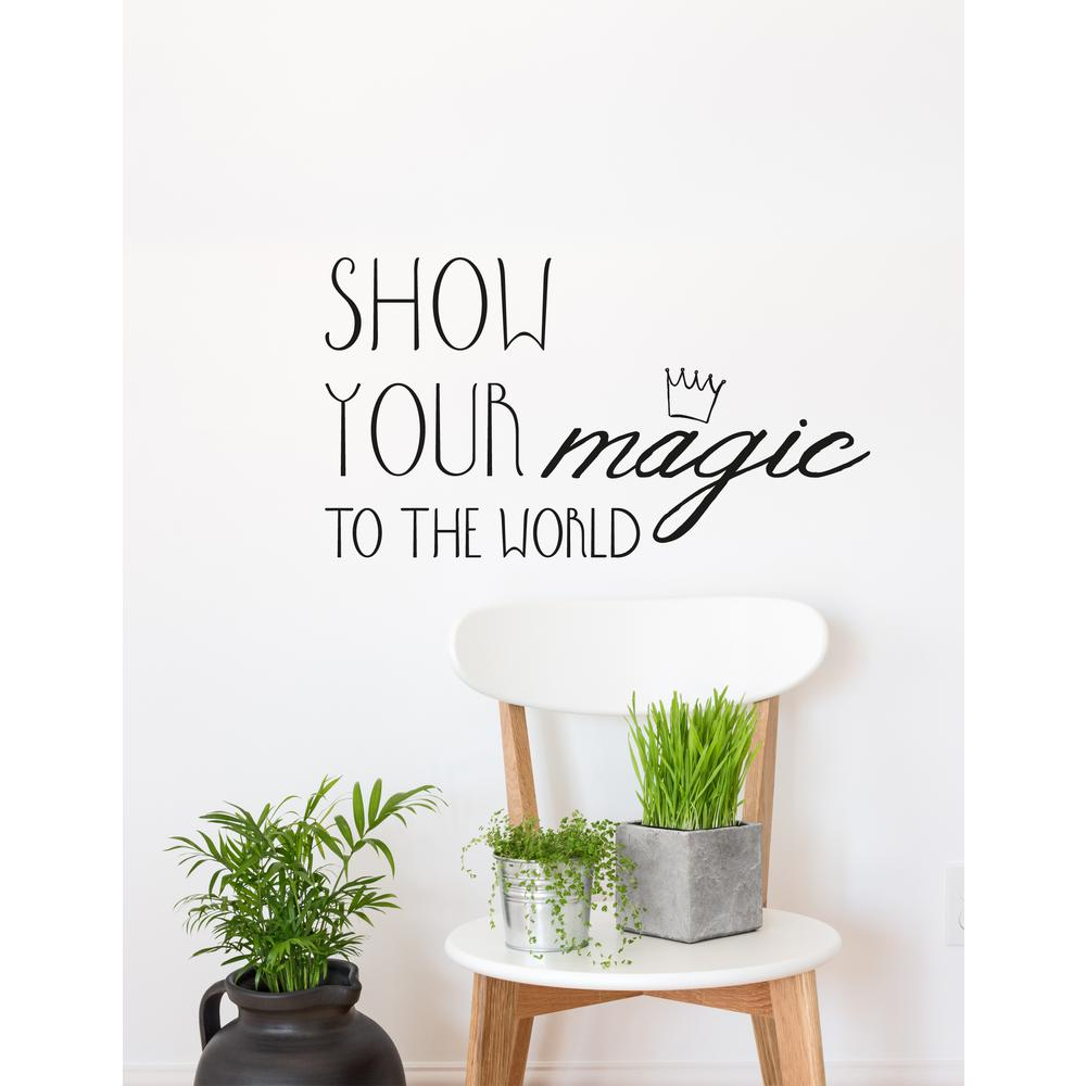 (15 in x 20 in) Show Your Magic Wall Decal