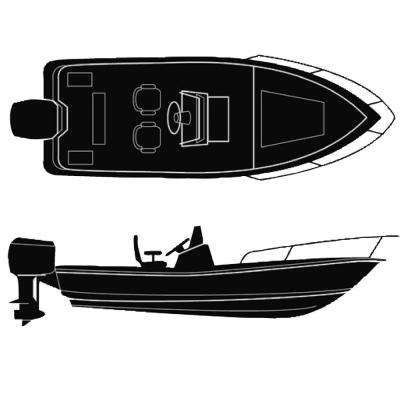 102 in. Beam Semi-Custom Boat Cover for V-Hull Center Console Boats