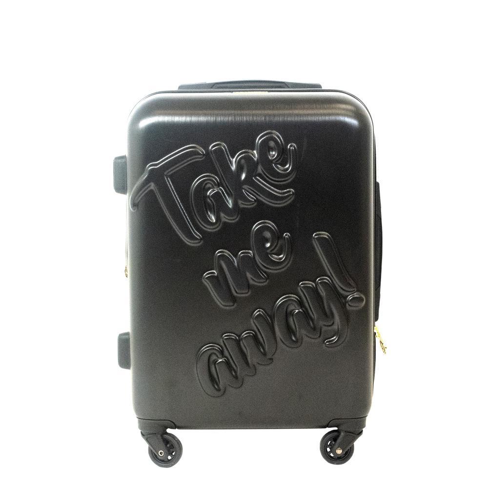 Take me Away 21 in. Black Rolling Luggage Suitcase