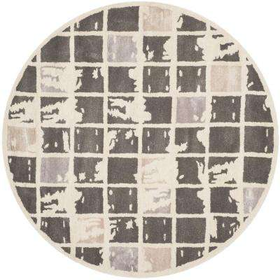 Bella Dark Gray/Ivory 5 ft. x 5 ft. Round Area Rug