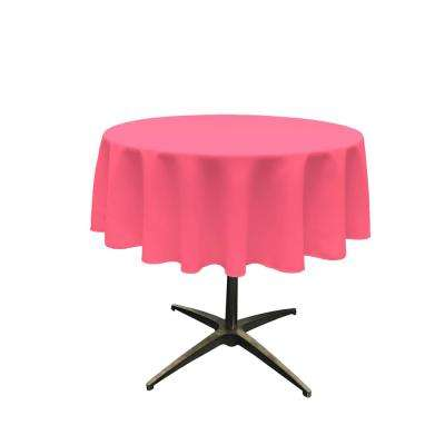 Polyester Poplin Hot Pink 51-Inches Round Tablecloth