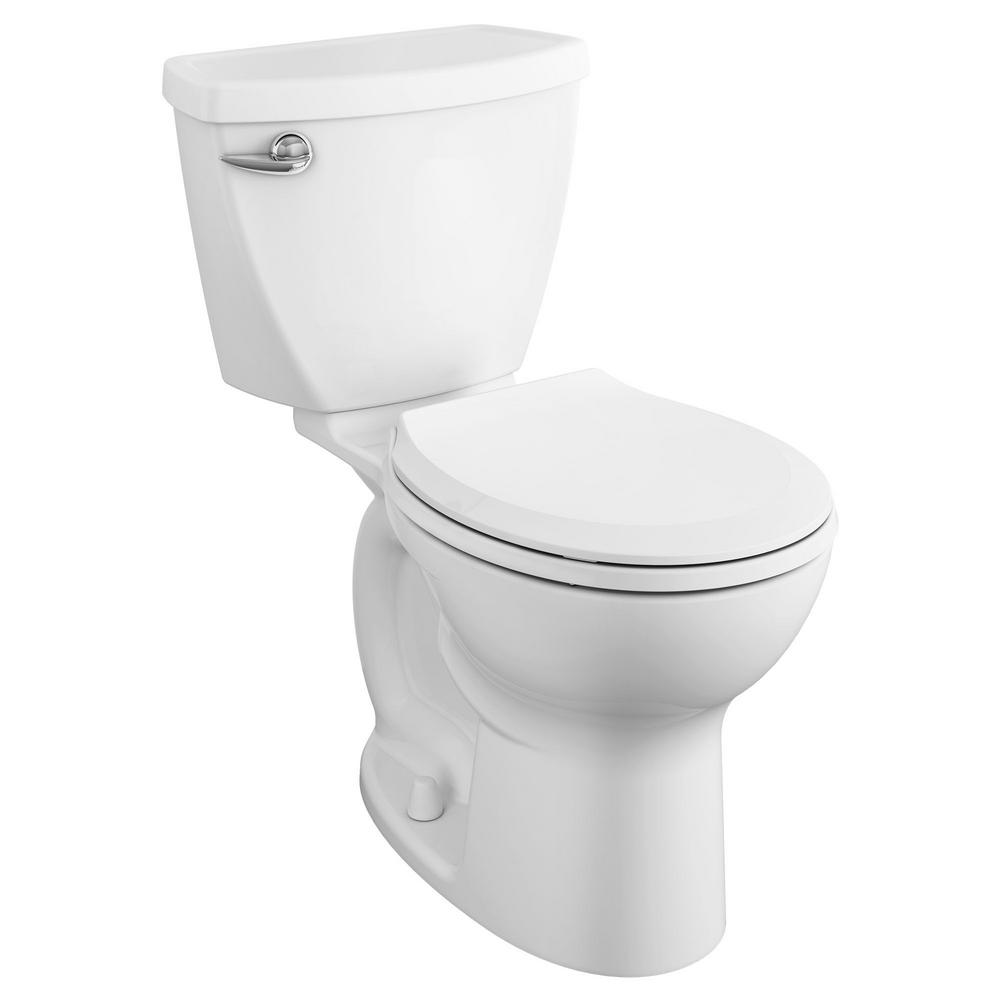 American Standard Cadet 3 Tall Height 2-piece 1.28 GPF Single Flush Round Toilet with Slow Close Seat in White