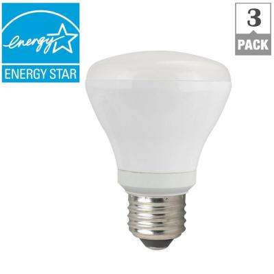 50W Equivalent Soft White R20 Dimmable CEC LED Light Bulb (3-Pack)