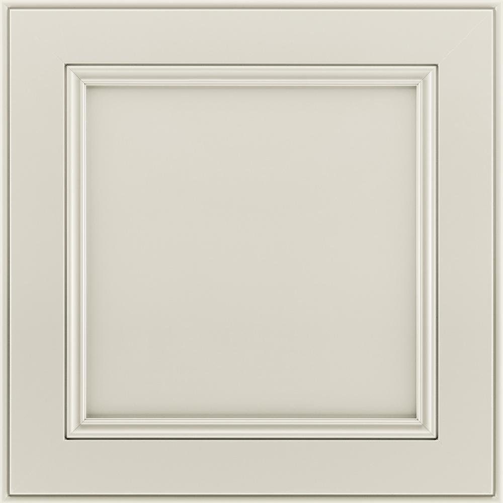 American Woodmark 14-9/16 x 14-1/2 in. Cabinet Door Sample in MacArthur  Painted Harbor