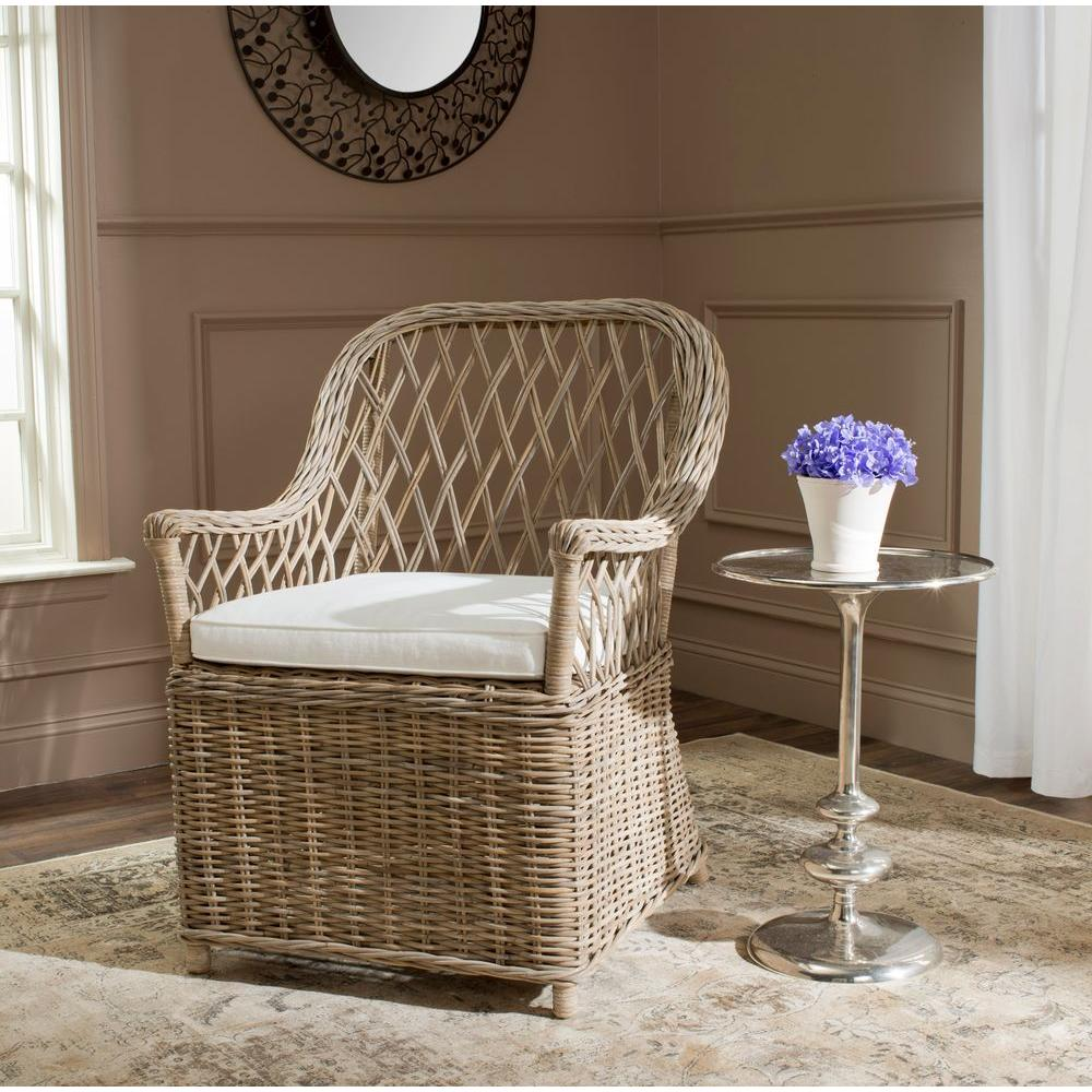 Safavieh Maluku Natural Rattan Arm Chair