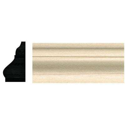 3/4 in. x 1-1/4 in. x 96 in. White Hardwood Colonial Base Cap Moulding