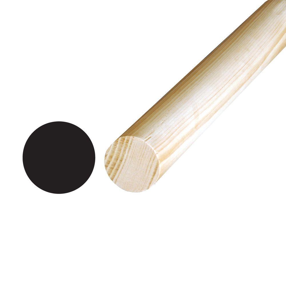 1-5/16 in. x 1-5/16 in. x 96 in. Hemlock Full Round Moulding