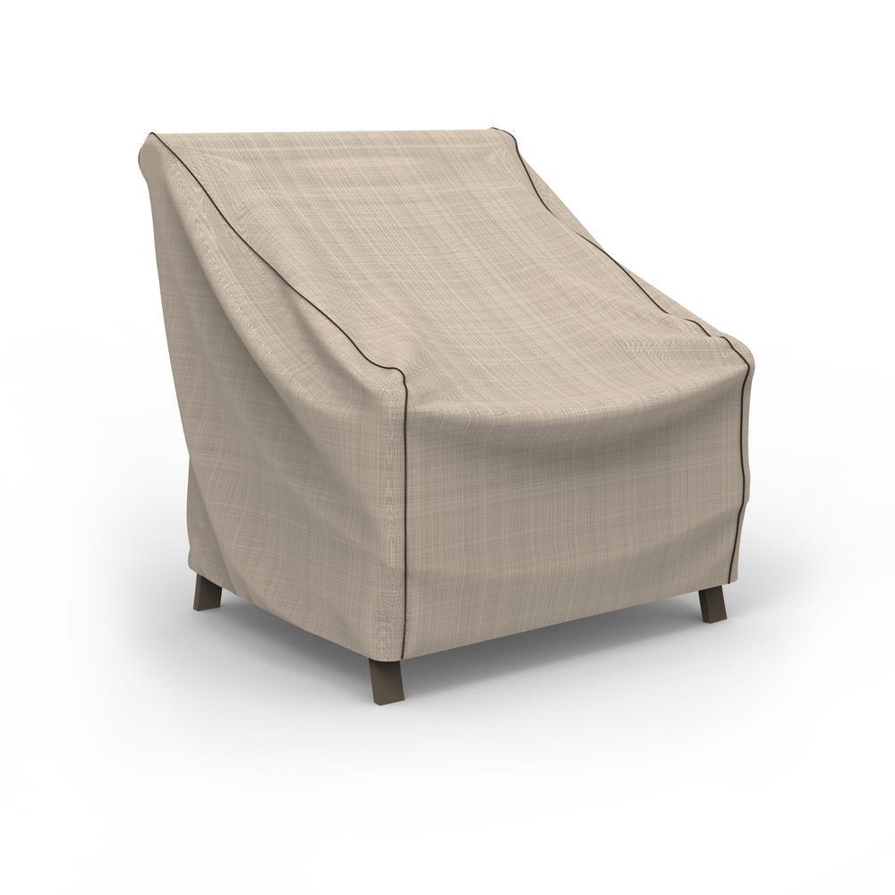 NeverWet Mojave Medium Black Ivory Patio Chair Cover