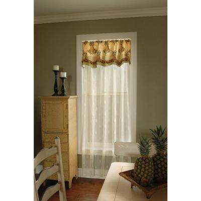 Semi-Opaque Pineapple 45 in. L Polyester Valance in Ecru