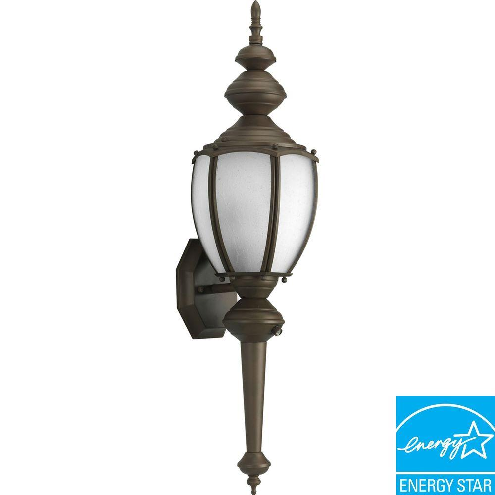 Progress Lighting Roman Coach Collection Roman Bronze 1-light Wall Lantern-DISCONTINUED
