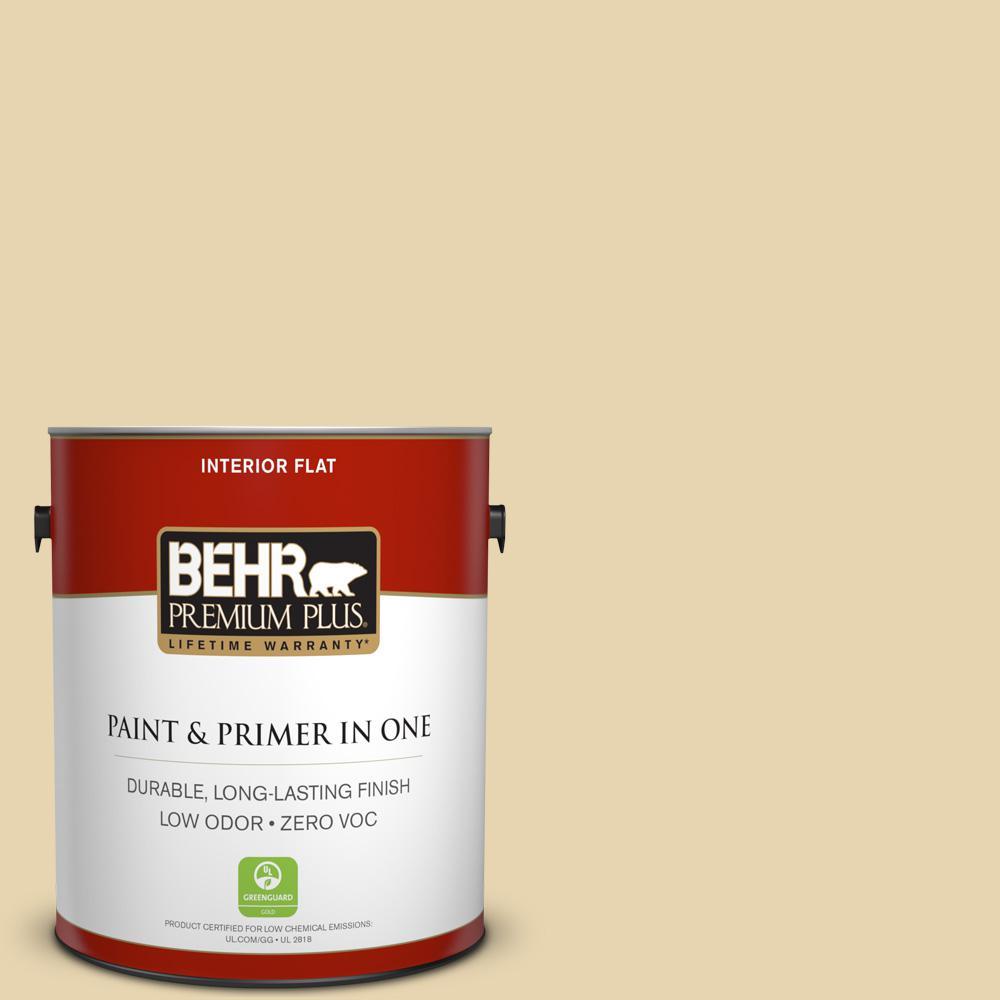 BEHR Premium Plus 1-gal. #360E-2 Castle Stone Zero VOC Flat Interior Paint