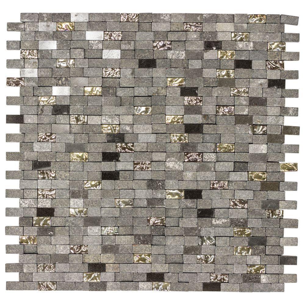 Jeffrey Court Mystical Mini Brick 12 75 In X 125 8 Mm Gl