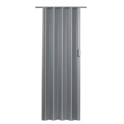 48 in. x 96 in. Elite Vinyl Satin Silver Accordion Door