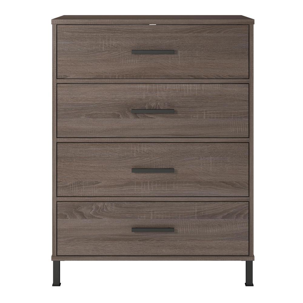 4-Drawer Harmony Weathered Oak Dresser