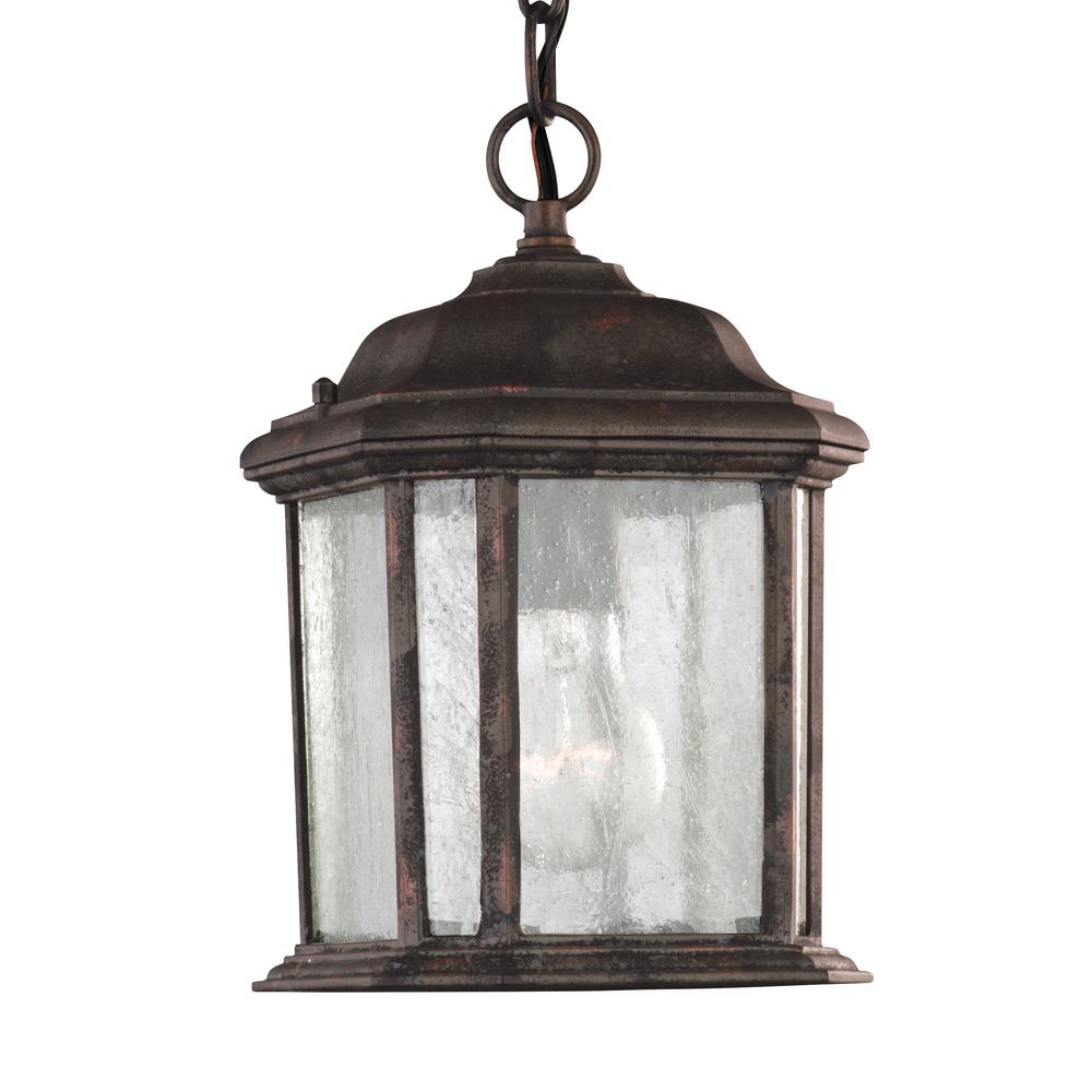 Sea gull lighting kent 1 light oxford bronze outdoor for Hanging outdoor light fixtures
