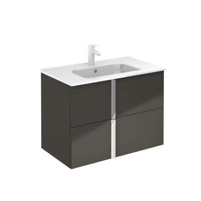 Onix 32 in. W x 18 in. D Bath Vanity in Anthracite with Ceramic Vanity Top in White