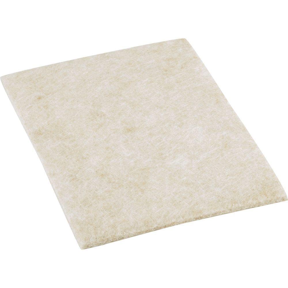 4-1/4 in. x 6 in. Heavy Duty Self-Adhesive Felt Blankets (2 per Pack)