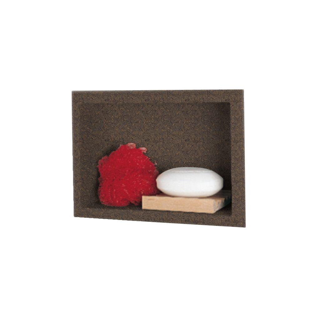 Swanstone 4-1/8 in. x 7-1/2 in. x 10-3/4 in. Recessed Accessory Shelf in Sierra-DISCONTINUED