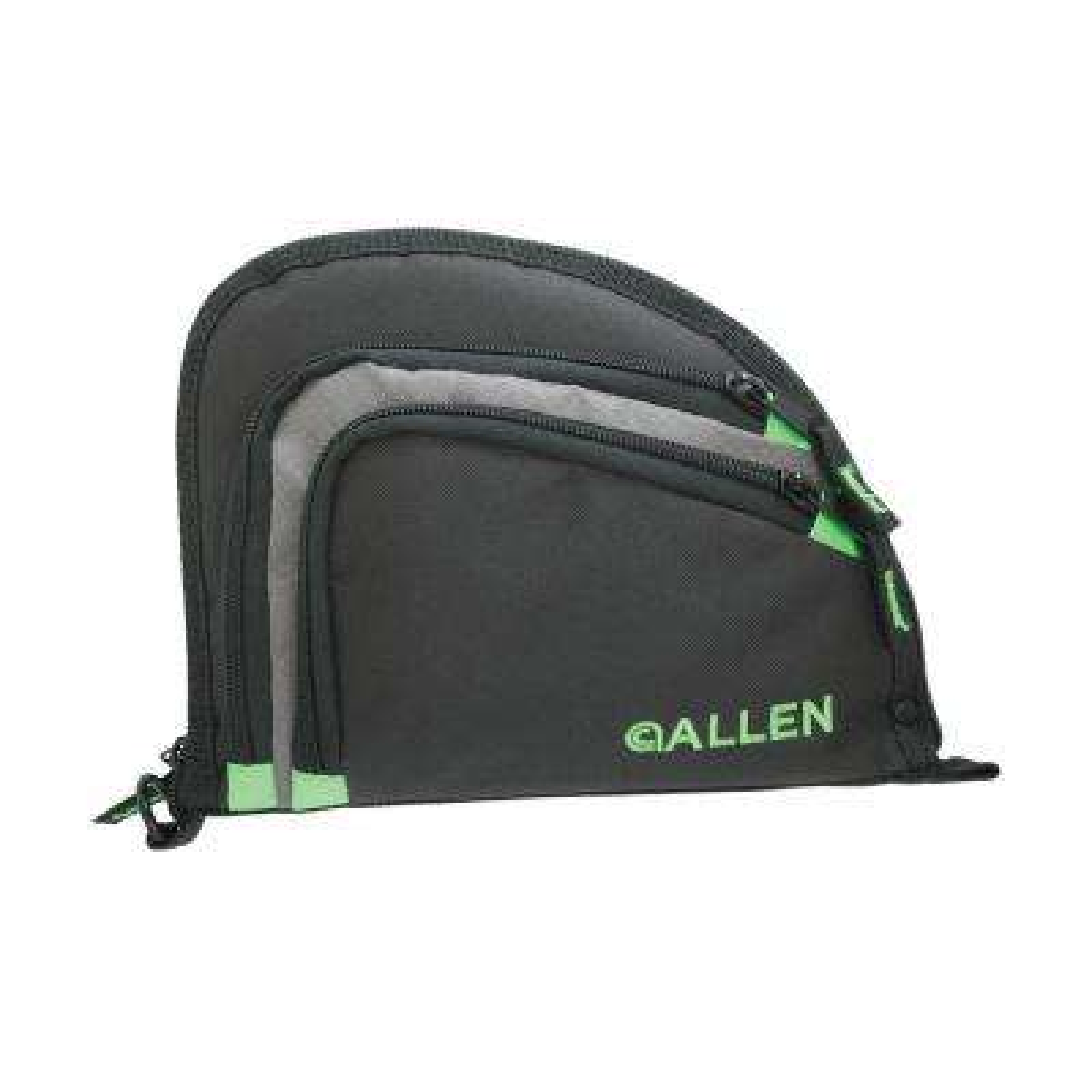9 in. 2 Pocket Auto-Fit Handgun Case in Black and Green