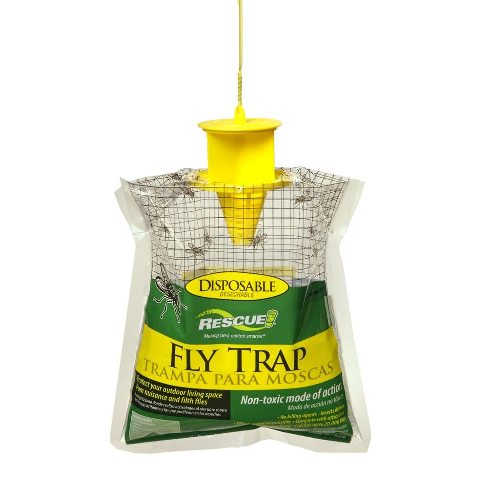 RESCUE Disposable Fly Trap-FTD-DB12 - The Home Depot