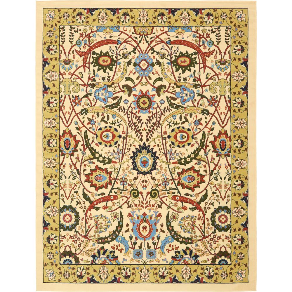 Unique Loom Isfahan Cream 9 Ft X 12 Area Rug 3137532