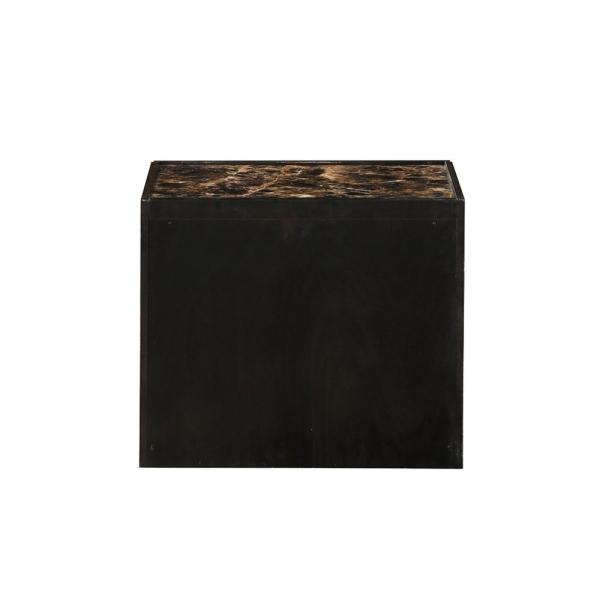 Amelia 2-Drawer 24 in. x 17 in. x 20 in. Dark Expresso Mdf Nightstand