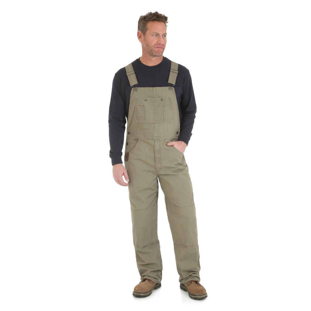 Men's Size 34 in. x 30 in. Bark Bib Overall