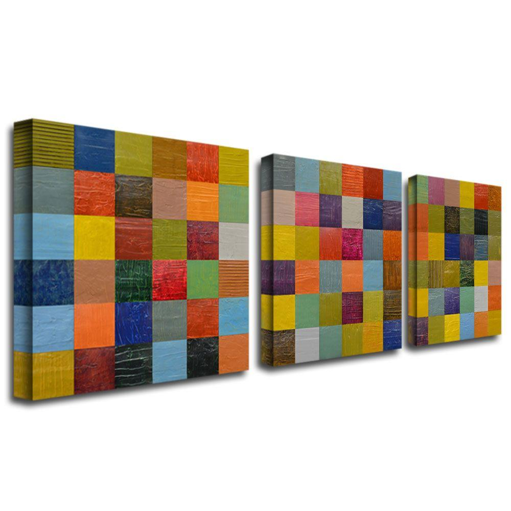 Collage Color Study II by Michelle Calkins 3-Panel Wall Art Set