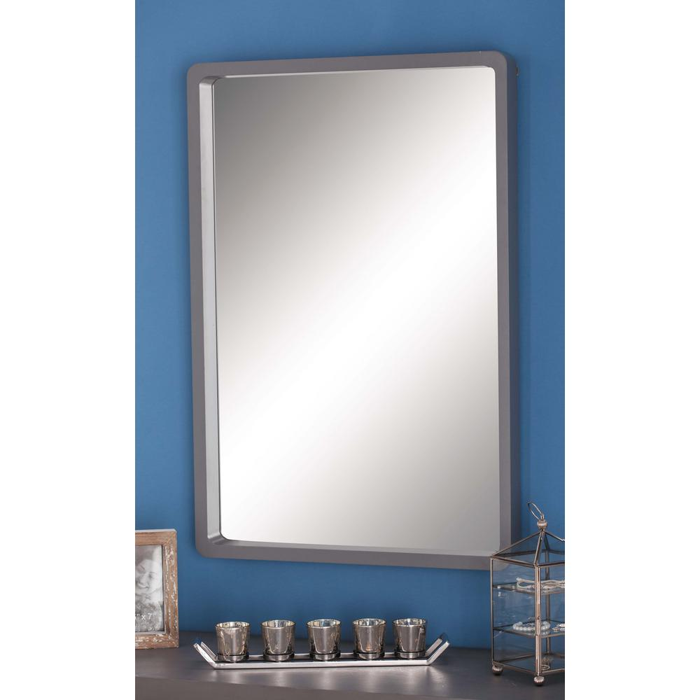 36 in x 23 in modern rectangular framed wall mirror in for 4 x 5 wall mirror