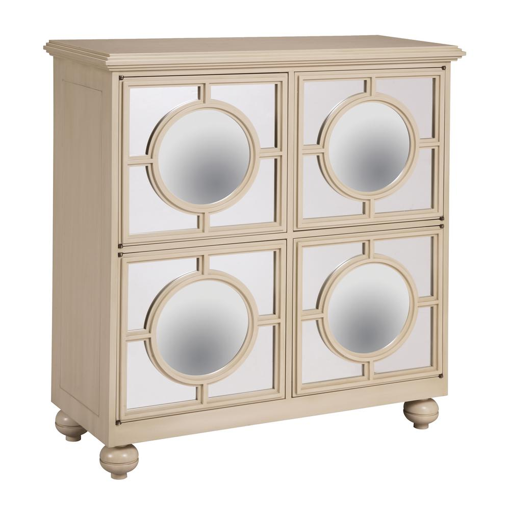 Cream Ivory Cabinet Mirage