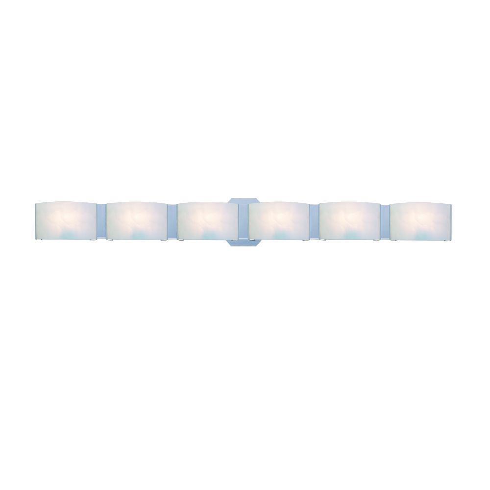 Eurofase Dakota Collection 6-Light Chrome Wall Sconce