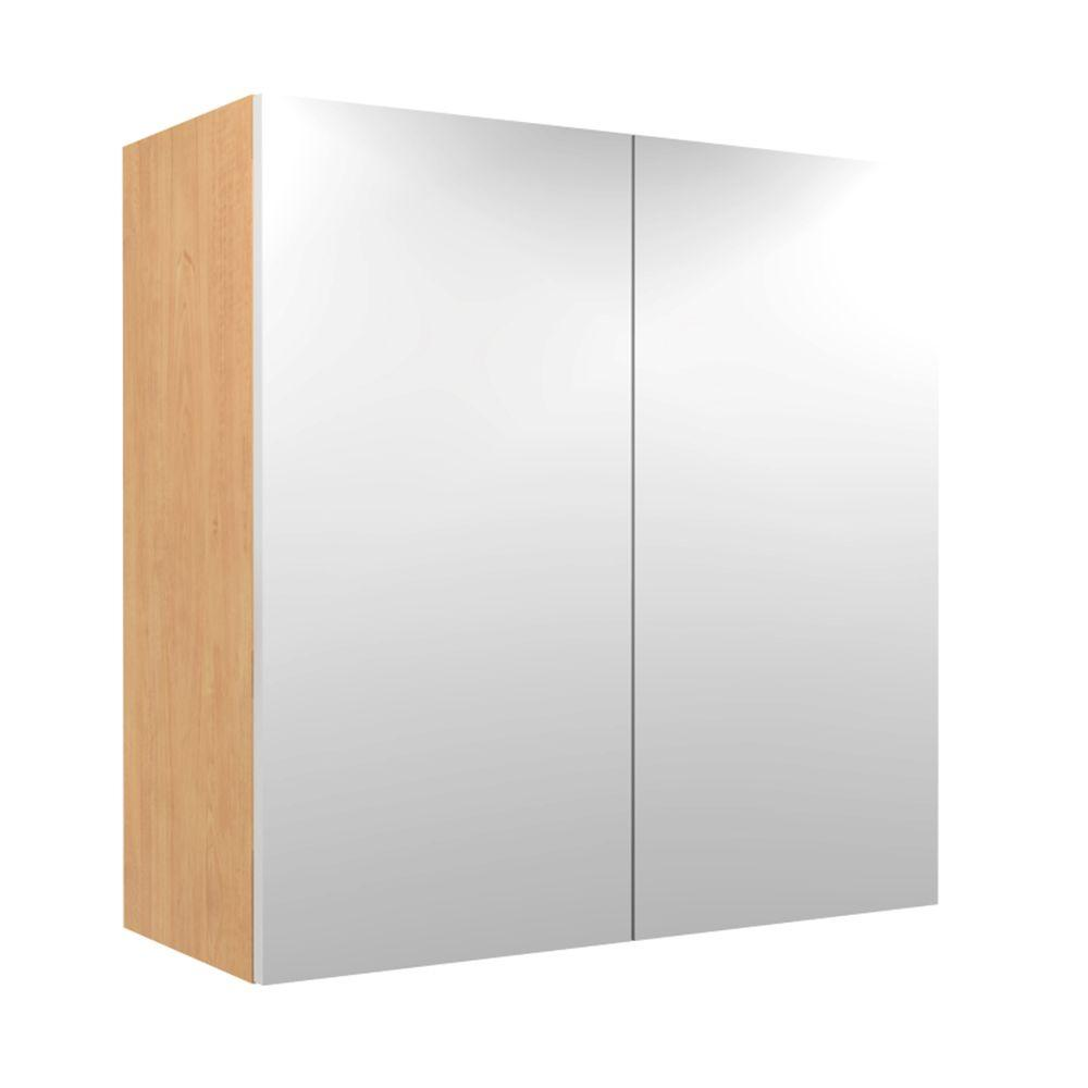 24x30x12 in. Salerno Wall Cabinet with Frosted Pull-Down Shelves and 2
