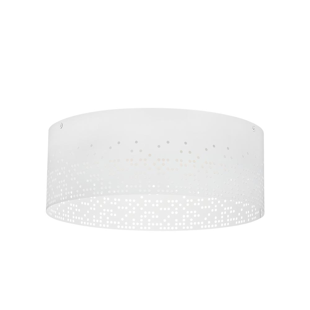 Crossblend 14 22.7-Watt White Integrated LED Flushmount