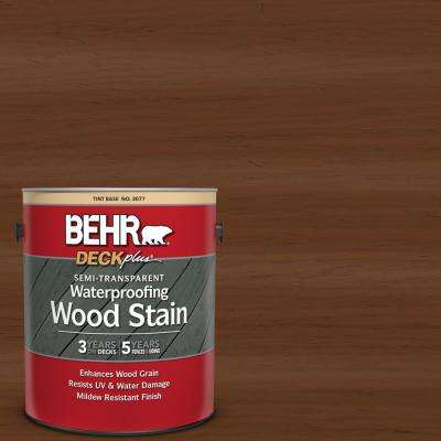 1 gal. #ST-110 Chestnut Semi-Transparent Waterproofing Exterior Wood Stain